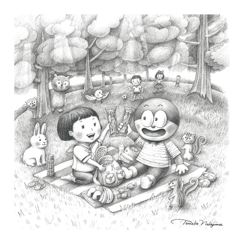 うまい棒とピクニック